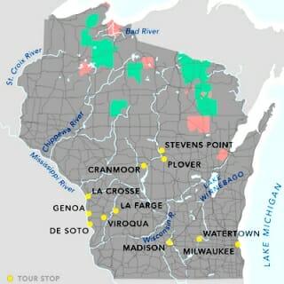 Stops on the 2019 Wisconsin Idea Seminar tour