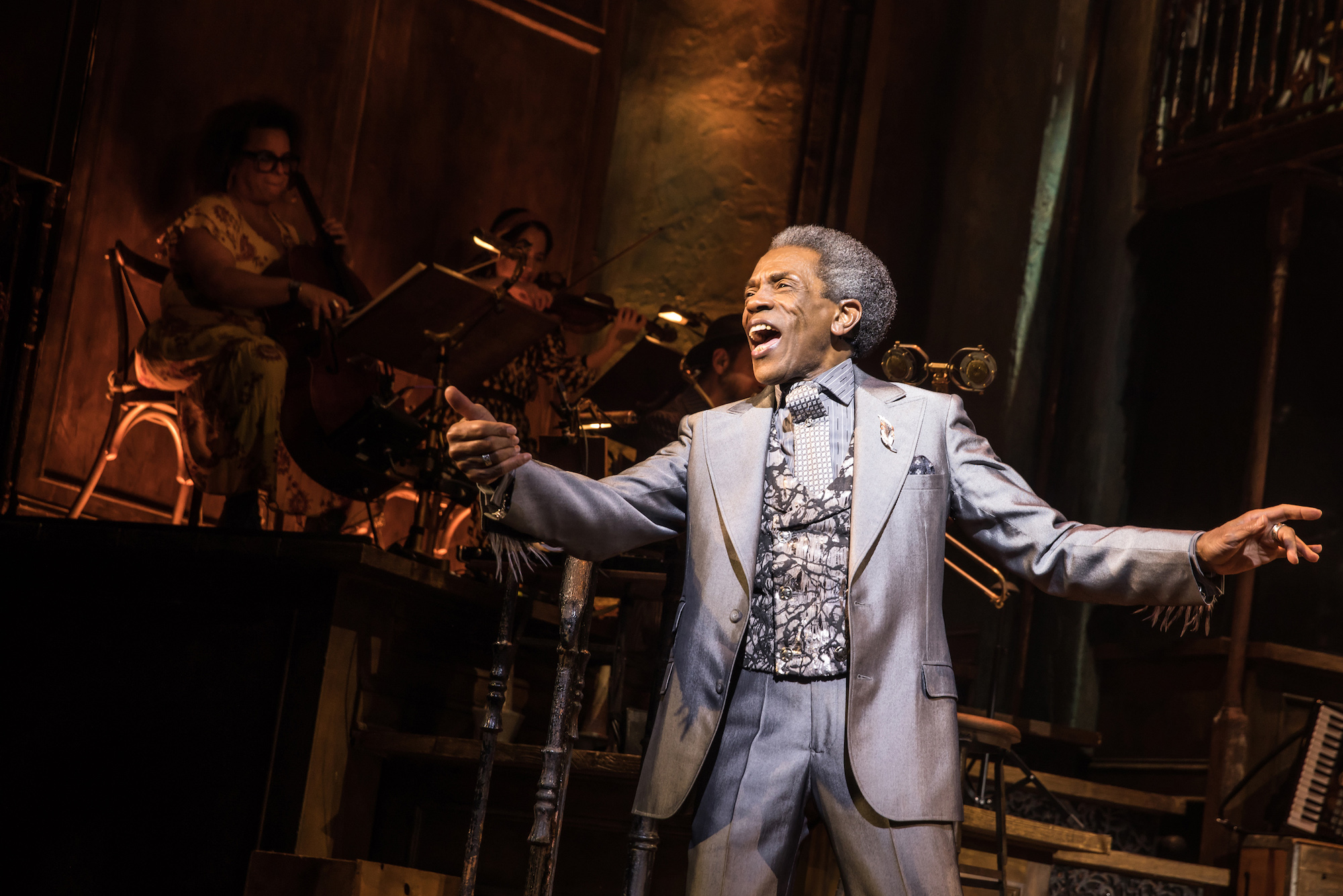 "Photo of De Shields performing in ""Hadestown."""