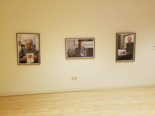 Photo: Framed portraits hanging on wall