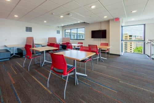 Photo: Tables in the student lounge