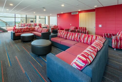 Photo: Couches in the student lounge