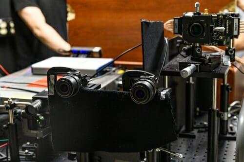 Photo: Advanced camera equipment.