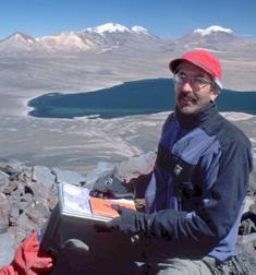 Photo: Bradley Singer sitting on a mountain