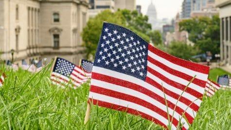 Photo: An American flag close-up.