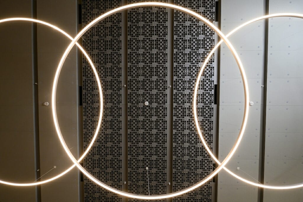 Photo: Lights on ceiling seen from below