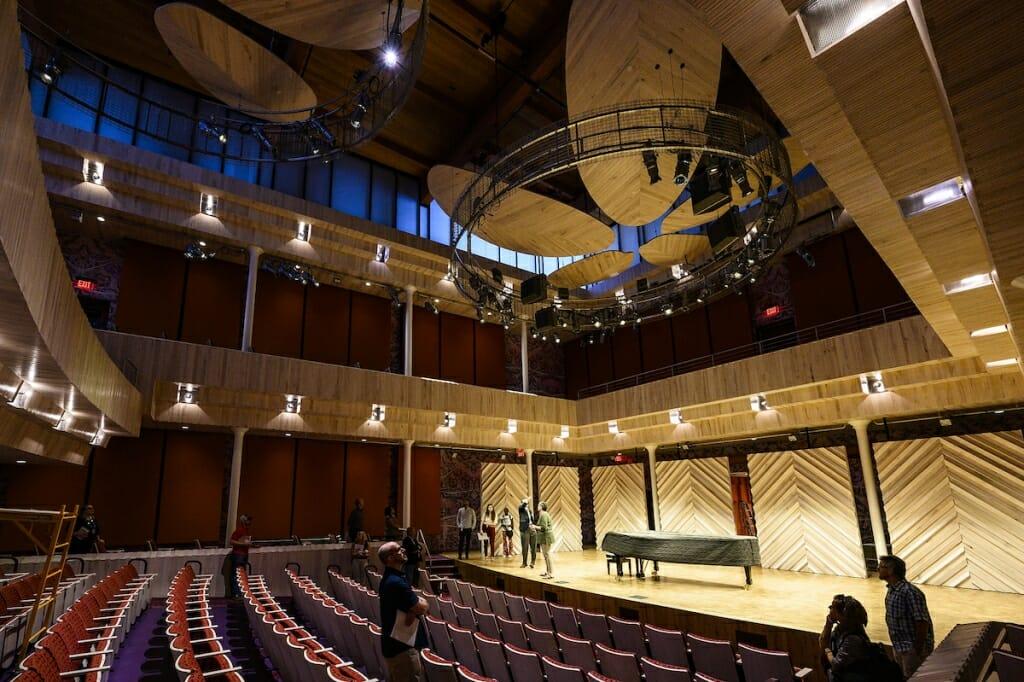 Photo: Inside of Collins Recital Hall
