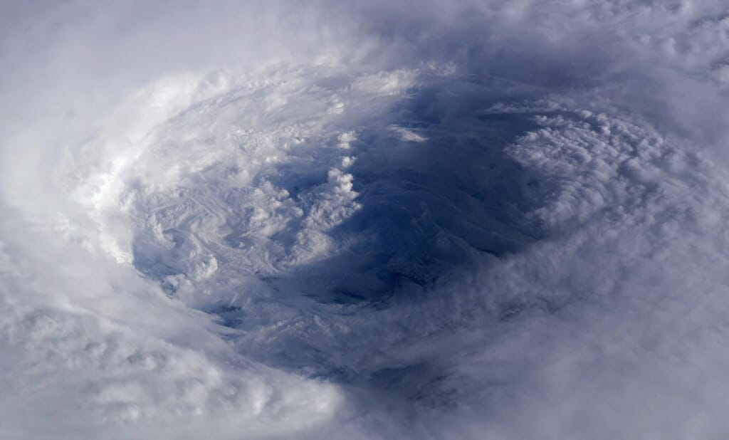 Photo: Satellite image of hurricane