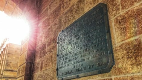 Photo: Plaque on wall