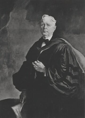 Illustration: Ely in academic robes