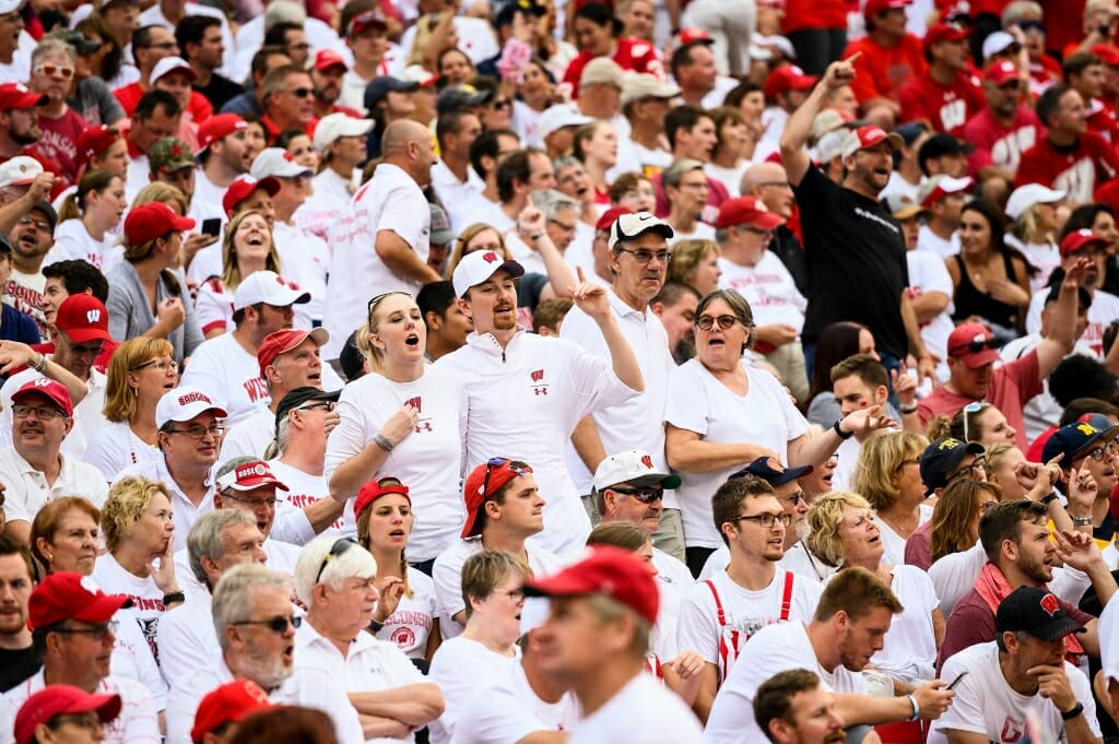 The skies were overcast for most of the game, but Badger fans were sunny and bright.