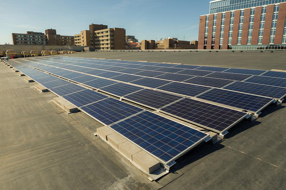 Photo: A solar array on Gordon Dining & Event Center.