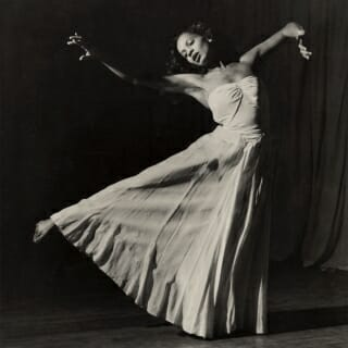 Mary Hinkson dancing as a guest artist with Orchesis, 1949.