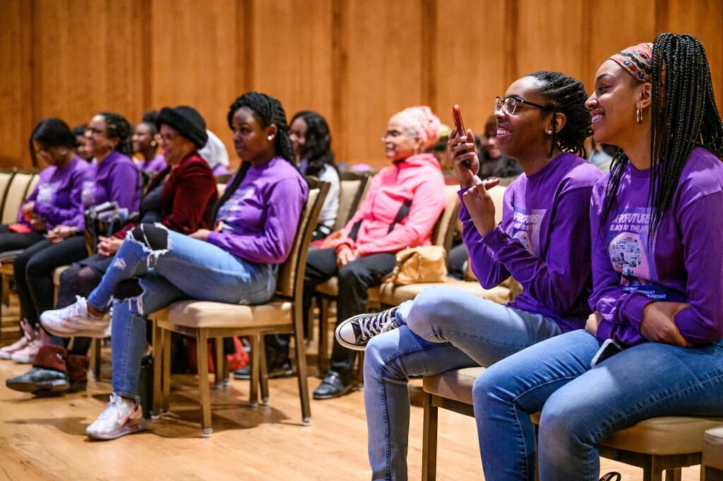 The audience was enthusiastic about the topic of Afrofuturism, which is the (re)imagining of the future for Black people through various mediums such as the arts, media, and literature.
