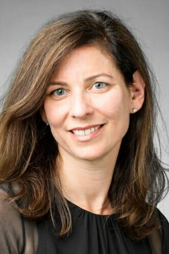 Studio portrait of Sara Guyer