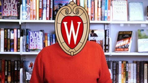 Image of the 2020 commencement keynote speaker with the university crest hiding their face