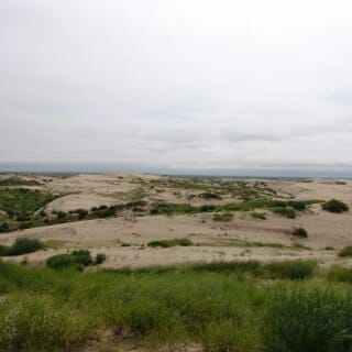 Dunes in the Horqin dune field in northern China