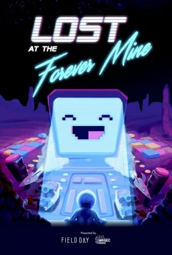 Title image of Lost at the Forever Mine showing a smiling robot