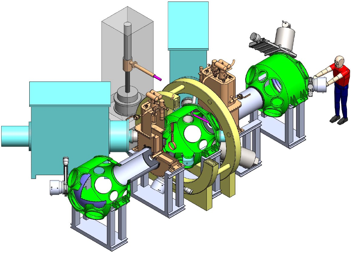 A schematic of a planned plasma fusion device.