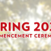 The title screen of the ceremony video, Spring 2020 Commencement Ceremony, on a sunlit background with a Wisconsin banner