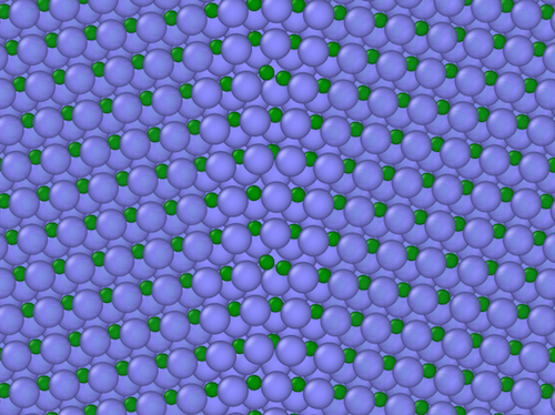 Illustration of silicon carbide before irradiation