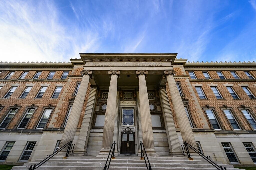 Agriculture Hall, home to the College of Agricultural and Life Sciences. (Photo by Bryce Richter / UW-Madison)