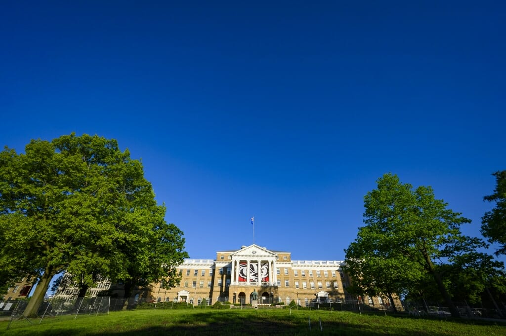 Bascom Hall, home to the Graduate School and a number of administrative offices, including the Chancellor's office.