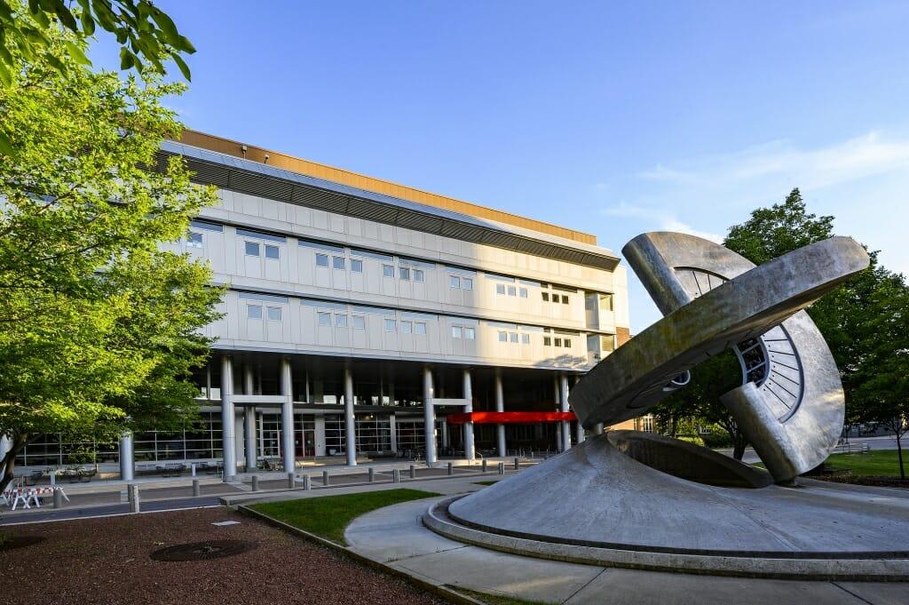 Engineering Hall and Engineering Mall.