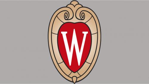W crest on plain background