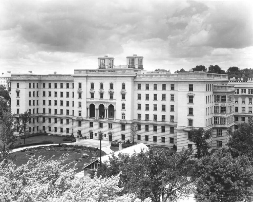 Exterior of former University Hospital building