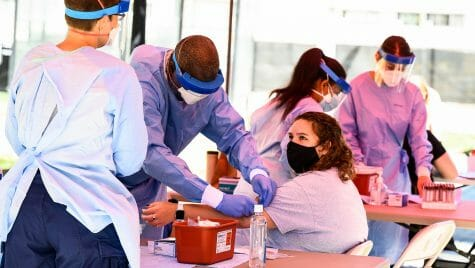 3. Megan P prepares for blood draw
