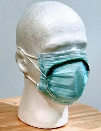 Mask on mannequin