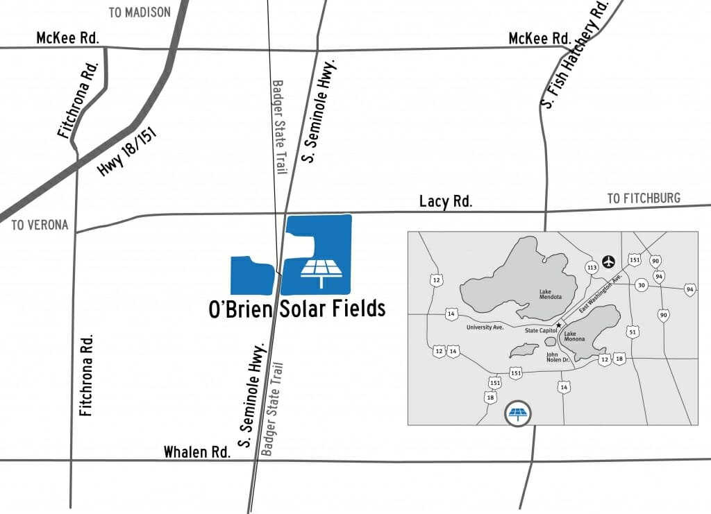Location map of solar array project
