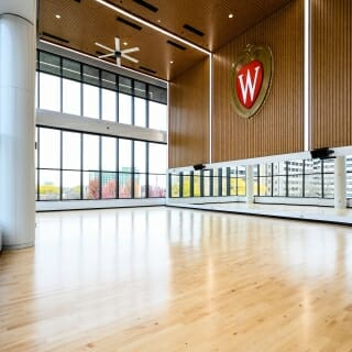 A soon-to-open exercise studio for group classes.