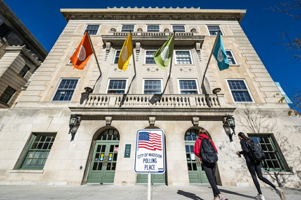 Memorial Union was one of seven polling places on campus for the Nov. 3 election.