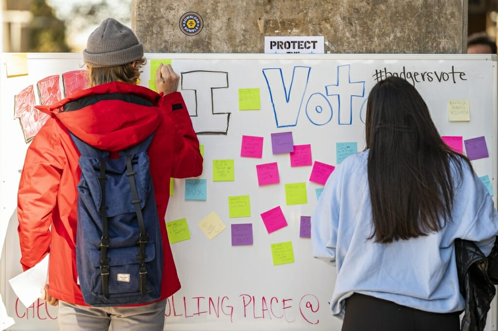 UW students had a wide range of reasons why they voted.
