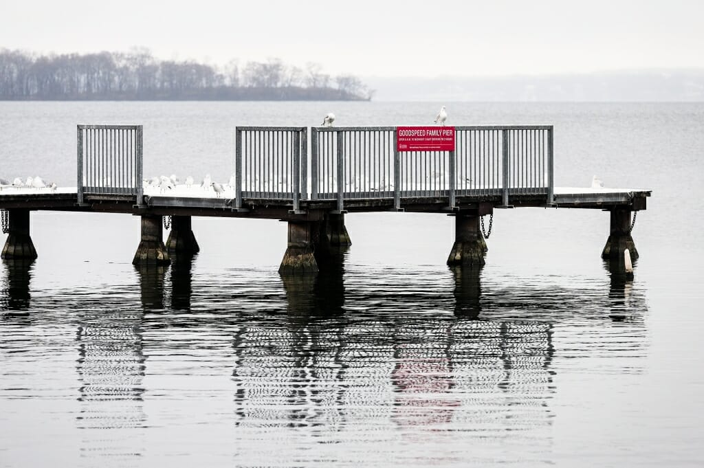 Lake Mendota's piers took on a November cast.