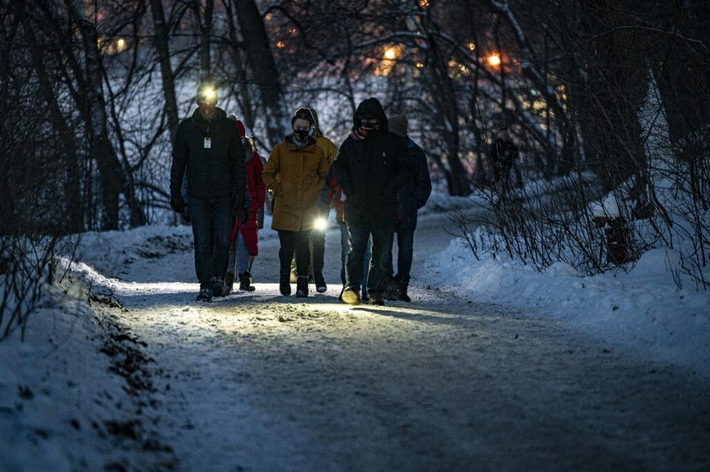 Those on the small-group hikes enjoyed nature but also wore masks and socially distanced.