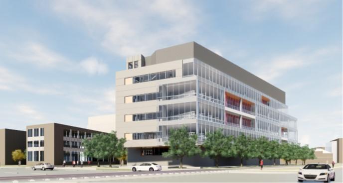 Artist's rendering of engineering building