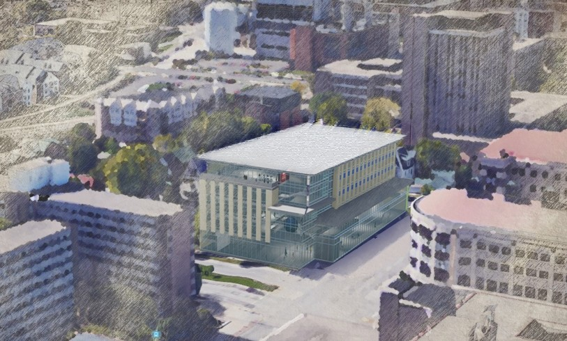 Architect's rendering of L&S building