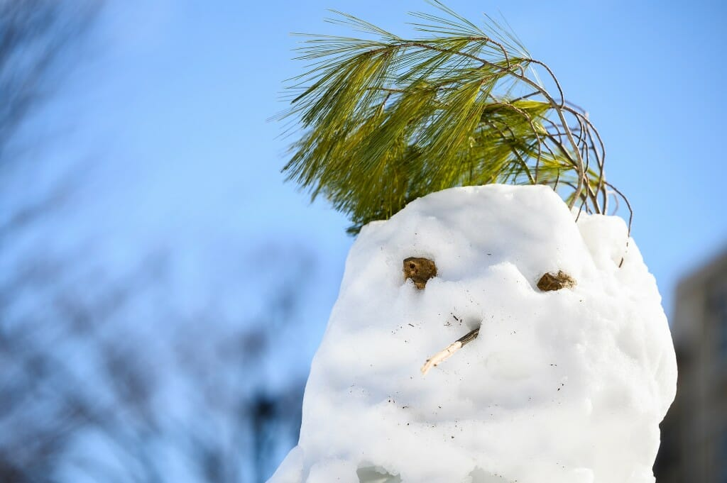 Just because you're made of snow doesn't mean you can't have a fashionable hairdo.