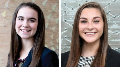 Headshots of Maggie Hoernke (left) and Nikki Batterman