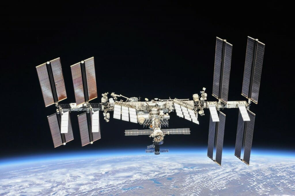 International Space Station seen above Earth