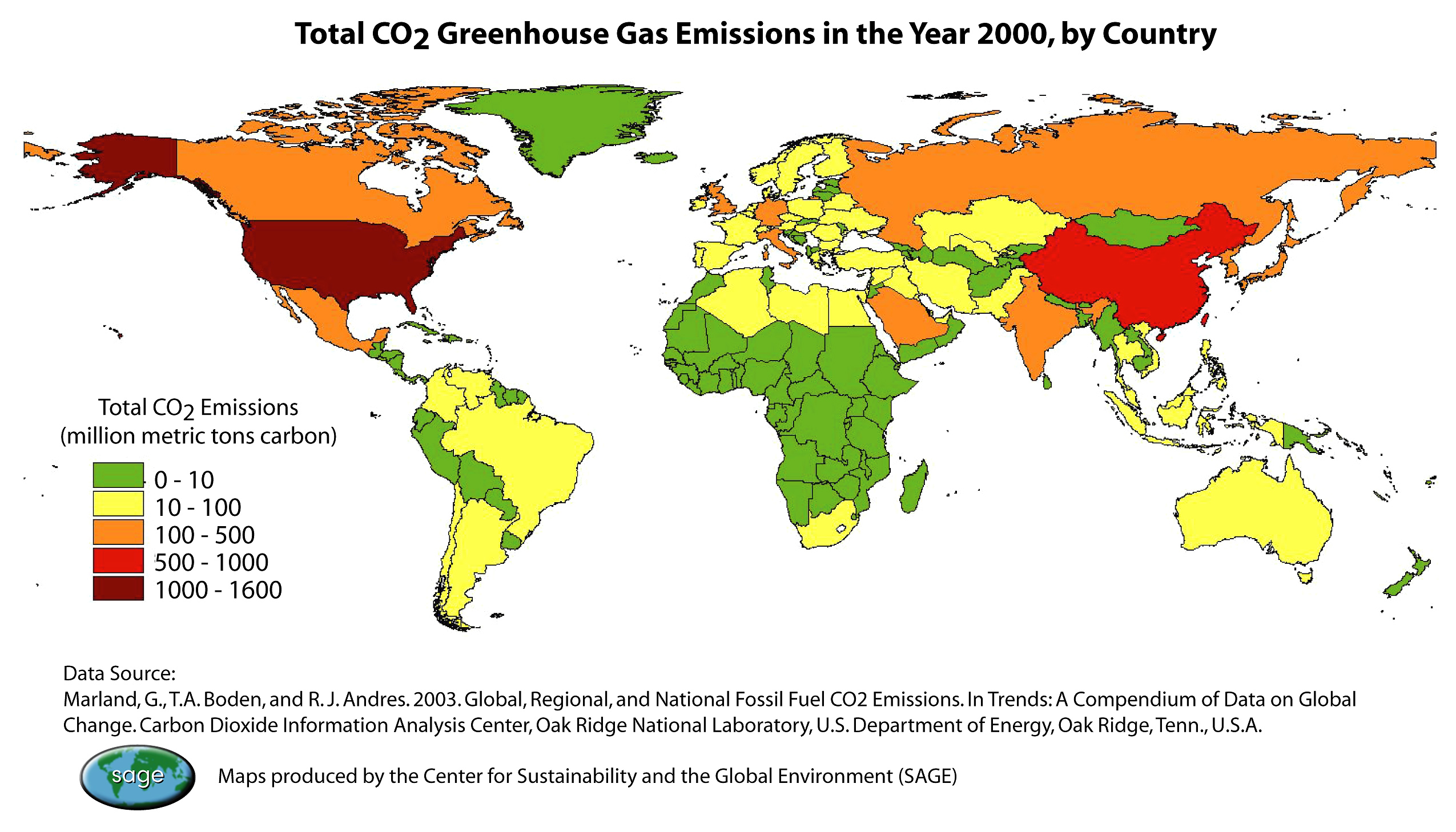 Global Greenhouse Gas Emissions Data