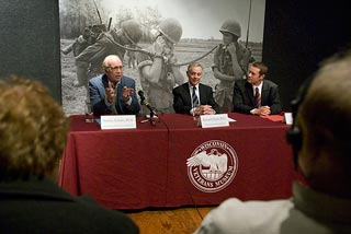 Photo from event announcing new Life During Wartime class