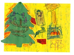 Image: greeting card with tree