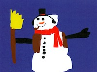 Image: greeting card with snowman