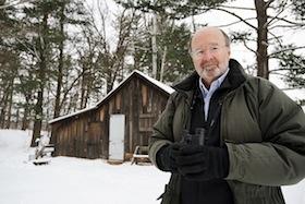 Photo: Stan Temple at Aldo Leopold Shack