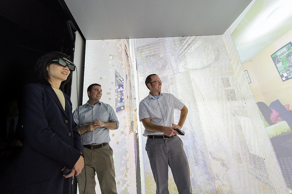 Photo: Michelle Lee visiting Living Environments Lab