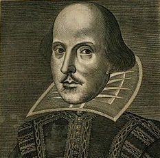 Photo: Engraving of Shakespeare