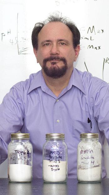 Photo: Phil Barak with jars